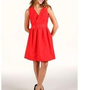 BB Dakota Mary Dress in Clementine Red